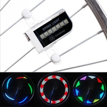 Hot Sale Colorful 2017 New 14 LED Motorcycle Cycling Bicycle Bike Wheel Signal Tire Spoke Light 30 Changes Cycling Accessories