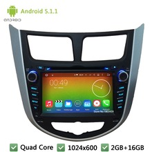 Quad Core 16GB Android 5.1.1 2Din HD 1024*600 WIFI Car DVD Player Radio Stereo Screen For HYUNDAI Verna Accent Solaris 2011-2014(China)