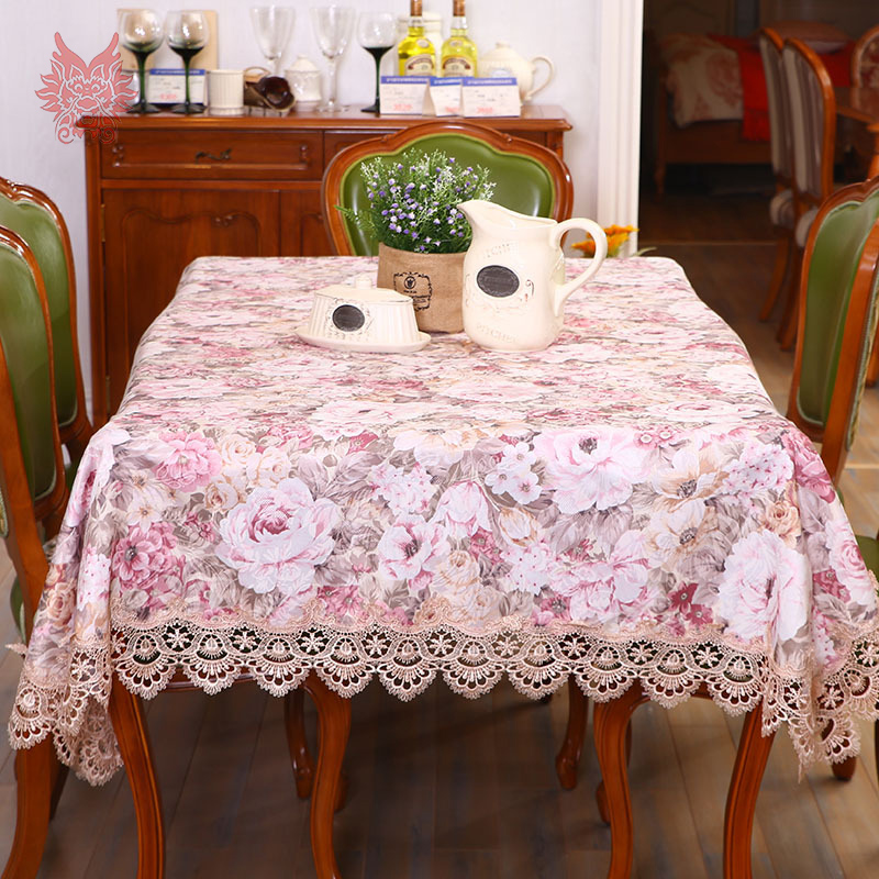 European style floral jacquard satin Table Cloth lace table cover nappe de table rectangle tablecloth toalha de mesa SP3039(China (Mainland))