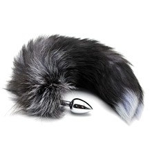 Stainless Steel Faux Fox Tail Toy Stopper Gift Gags & Practical Jokes Toy(China)