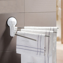 180 Degree Rotating Power Chuck Stainless Steel Towel Holder Hanging Bathroom Hotel Toilet Roll Paper Holder Towel Rack