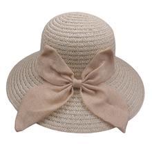 Señora plegable Sol Cap bowknot Fedora Panamá Sol sombrero sombreros de  verano para las mujeres sombrero 47e3decad8f