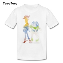 Best Friends Boys Girls T Shirt 100% Cotton Short Sleeve Round Neck Tshirt Children Clothing 2017 Great T-shirt For Kids