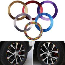 8M Car Styling Wheels Stickers Hub Tire Stickers Car Decorative Strip Wheel/Rim Protection Covers Bumper Scratchproof Stickers