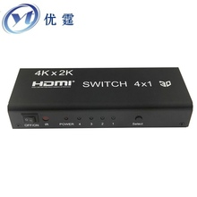 1.4v 4k HIFI HDMI switcher 4x1 witch 5.1 spdif/Coaxial and 3.5 R/L 4 port switch 1080P 3d AC3/5.1DTS Dolby-true 4KX2K30HZ Audio
