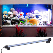42LED Aquarium LED Lighting Submersible Underwater Blue/White Colors Decor Fish Tank Lights Bar Waterproof Lamp for Aquarium(China)