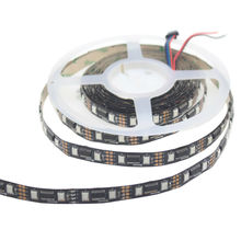 led 5v digital rgb led strip 5m lpd8806 ic Built-out control 32 48 pixel/m, waterproof by silicon tube protect,white/black pcb