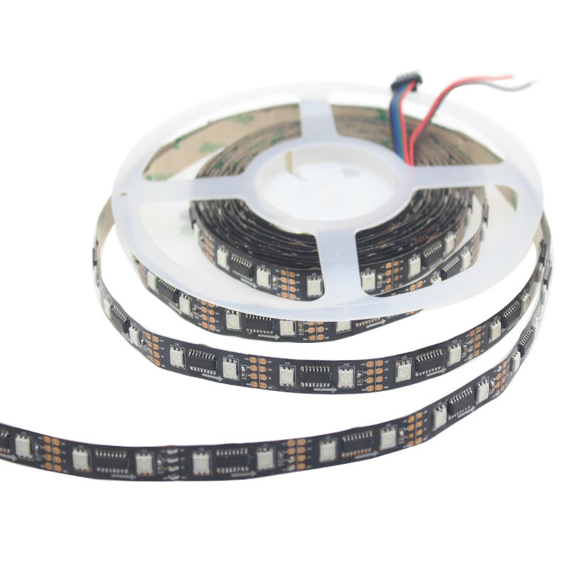 led 5v digital lpd8806 rgb led strip 5m lpd8806 ic Built-out smd 5050 control 32 48 pixel/m,waterproof IP20 IP67 white/black pcb<br>