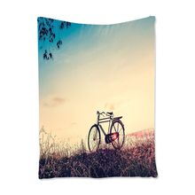 Vintage Tapestry Bike Decor Retro Sunset and Bicycle Bedroom Living Kids Girls Boys Room Dorm Accessories Wall Hanging,100*150cm(China)
