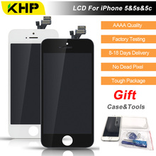 2017 100% Original KHP AAAA Screen LCD For iPhone 5 5s 5c Screen LCD Replacement Display Touch Screen Digitizer Quality LCDs(China)