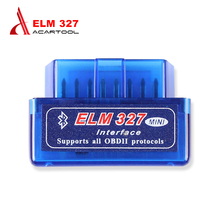 Latest version super mini elm327 bluetooth OBD2 Scanner for Android Torque OBDII Car Diagnostic ELM 327 V2.1 Scan free shipping
