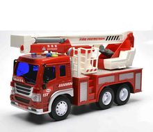 Urban Truck Series big size  1:18 car model kid toy Fire truck garbage truck Cement tanker pull back light sound