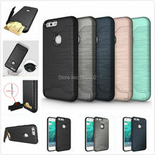 For Google Pixel XL Case New Design Shockproof KickStand Card Slot Protective Back Phone Covers For Google Pixel Cell Phone Skin