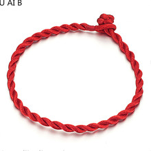 Korean jewelry evil hand-woven Women Men Ladies baby Lucky red string bracelet big quility pulseiras para as mulheres(China)