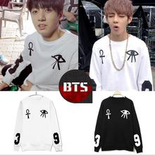 Kpop BTS Bangtan children Rap Monster jungkook black men white women's long sleeve hooded sweatshirt k-pop tops outerwear hood(China)
