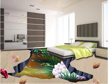Creative 3d floor photo wallpaper The underwater world 3d floors self adhesive wallpaper vinyl flooring wallpapers