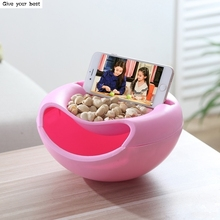 Nuts Sitting Room Melon Seeds Candy Snack box Dried Fruit Boxes Storage Box Fruit Plate Organizer For Leisure Phone Holder