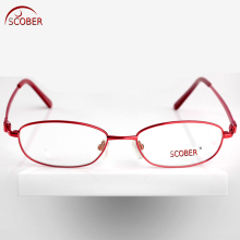 = SCOBER = Luxury Fashion Exquisite wave gem decoration Alloy + TR90 Half-rim Women reading glasses +0.75 +1 +1.25 TO +6(China)