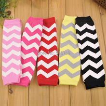Free Shipping 1 Pair Baby Chevron Baby Leg Warmer Baby infant colorful leg warmer child socks Legging Tights Arm warmers(China)