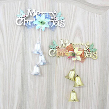 1Pc Gold Silver Fashion Merry Christmas Ornament Polymer Pendants For Home Christmas Tree Baubles Cristmas Tree Decoration Gifts(China)
