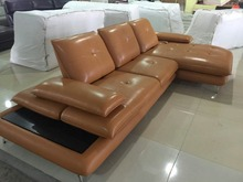 Genuine leather sectional sofa modern living room furniture sofa set 8817
