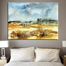 Field Woods cloud river Landscape Abstract Frameless Spray Home decor drawing Oil Painting Canvas miniature art hologram