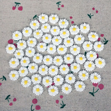 100 Pieces Flatback Flat Back Resin Flower Cabochon Kawaii White Sun flower DIY Resin Craft Decoration Handmake Accessoires:14mm