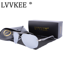 Hot sale LVVKEE Luxury Aviator HD Polarized Men/women Brand Rimless Sunglasses Classic Al-Mg alloys UV400 Driving eyeglasses
