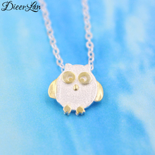 New Arrivals 925 Sterling Silver Owl Necklaces & Pendants For Women Fashion sterling-silver-jewelry(China)