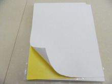 STANDARD SHIPPING self adhesive A4 blank copy paper STICKER/matt white paper/woodfree label for laser/inkjet printer(China)
