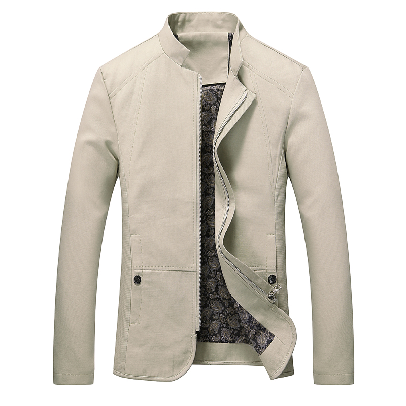 Plus Size 5XL Solid Colors Men Jacket Spring Autumn Casual Male Coat Slim Fit Casaco Masculino Veste Homme Chaqueta Hombre MJ330