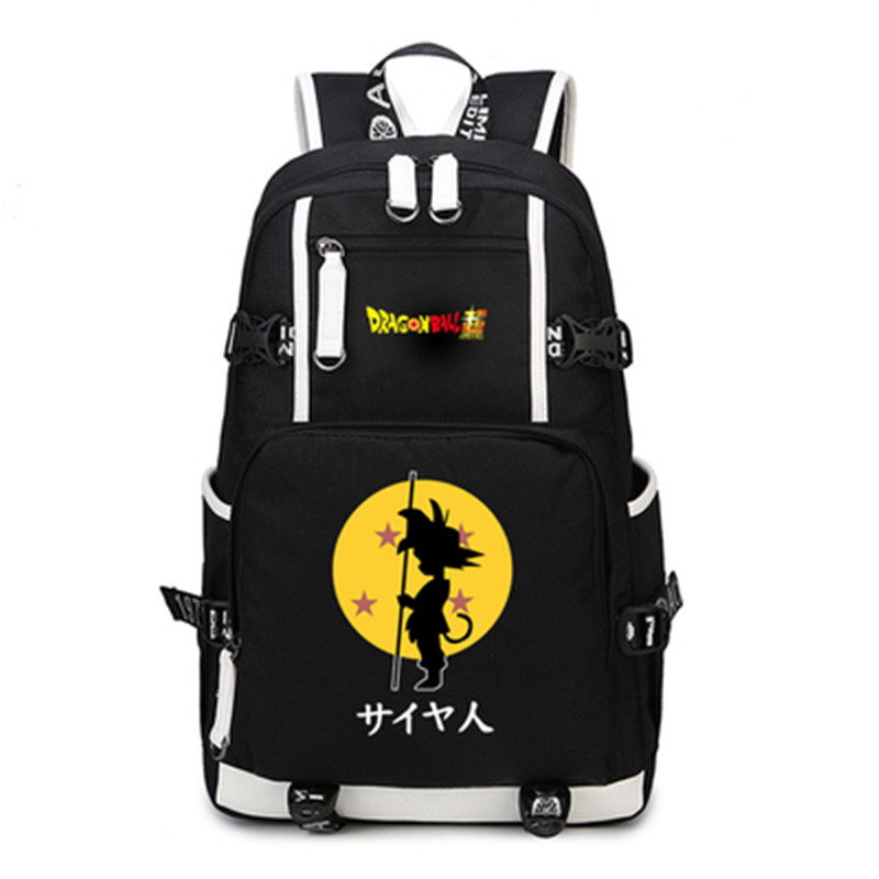 Anime Dragon Ball Z Backpack Cosplay Dragon Ball Son Goku Backpack Canvas School Laptop Students Fun Girls Boys Bags Gifts<br>