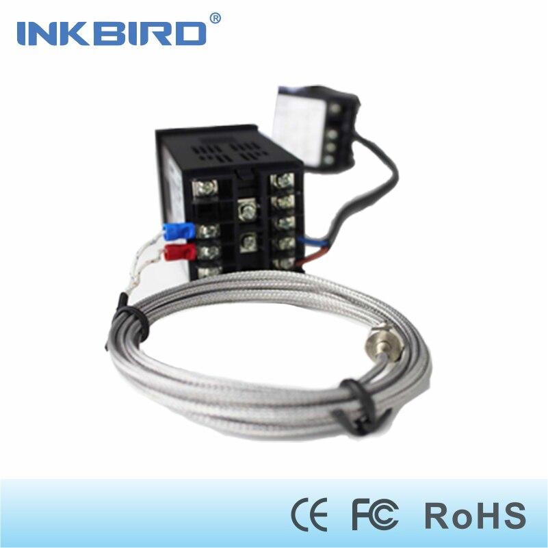 Inkbird Dual Digital PID Temperature Controller AC/DC 12-24V  SSR Relay Output ITC-100VL+ K sensor+ 25DA SSR<br>