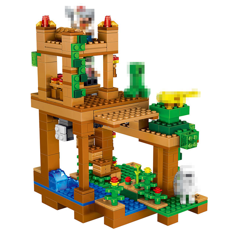 My World Series Children Building Blocks Compatible LegoINGlys Minecrafter Best Enlighten Stacking Toys Kids Play Castle 410 Pcs<br>