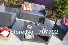 2017 New Products Monaco Lounge Outdoor Poly Rattan Furniture Sofa Set