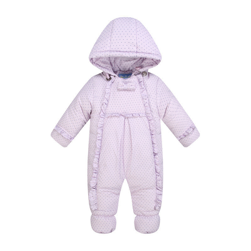 New 2017 Baby Winter Romper Down Feather One Piece Newborn baby girl Warm jumpsuit Fashion babys snow wear Kid Climb Clothes<br>