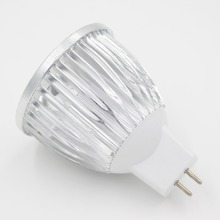 Free shipping DC12V Input 3W Aluminum Shell LED Bulb High Power MR16 LED Spotlight Light for solar system low voltage