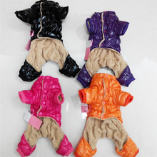 New Winter Dogs Jumpsuit Casual Clothes Rose Black Orange Purple Jacket Solid Coat Size XS-XXL Pet Clothes For Animals P038(China)