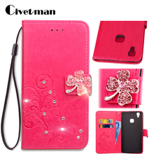 "Cover Cell Phone Case For Doogee X5 Max / X5 Max Pro 5.0"" Flip PU Leather TPU Shell Clover Diamond Holster Bag Card Pocket Strap(China)"