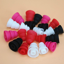 6PCS/Three Layers Silicone 3.8mm In-Ear Earphone Covers Earbud Cap Replacement Bud Tips Earbuds Eartips Earplug Ear Pads Cushion(China)