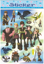 How To Train Your Dragon Master stickers, Dragon Chaser decor gilding sticker,children room kindergarten fashion decor stickers