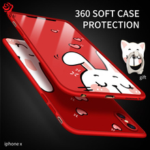 ASINA 360 Full Protection Case For iPhone X Silicone Soft Case Cover Slim With Free Cute Cat Pattern Ring For iPhone X Coque(China)