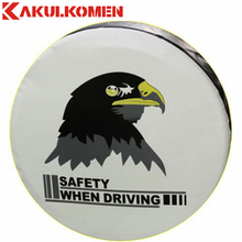 "21""-33"" Size PVC Leather Spare Tire Cover For Suzuki Isuzu Mitsubishi Honda Toyota Kia Hyundai Volvo Citroen Nissan Peugeot(China)"