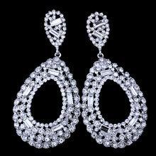 FARLENA Jewelry Luxury Full Rhinestones Water Drop Earrings for Women Wedding  Dancing Accessory Fashion long Bridal Earrings 2e99edcc0d51