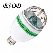 3W LED Rotating RGB Lamp 85-265V Crystal Stage Auto Full Color Effect Light Bar Light KTV  Dancing Light BulbLamp