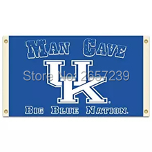 Kentucky Wildcats Man Cave NCAA Flag 3x5FT banner 100D 150X90CM Polyester brass grommets custom66, Free Shipping(China)