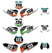 Custom Number Plate Backgrounds Graphics Sticker & Decals KTM SX SXF 2007 2008 2009 2010 XC EXC 2011 - Cnc Motocross Parts store