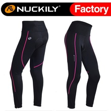 Nuckily Spring/Autumn Women's bike tights breathable Spandex fabric Cycling long pants for cilismo GM001(China)