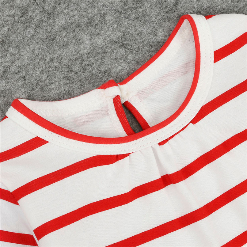 Christmas Clothes Girl Clothes Long Sleeve Girls Dress Toddler Baby Kids Girls Deer Printed Striped Party Princess Dress S12#F (5)