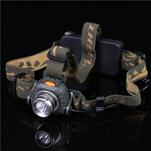 Camouflage Powerful Waterproof Cree T6 LED Headlamp 3500 Lumens Headlight Head Lamp For Hunting With 18650 Battery